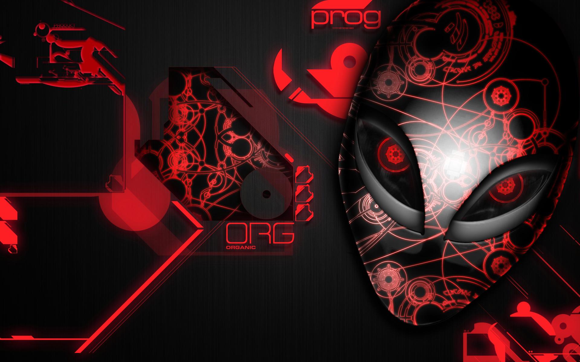 alienware desktop background red - photo #9