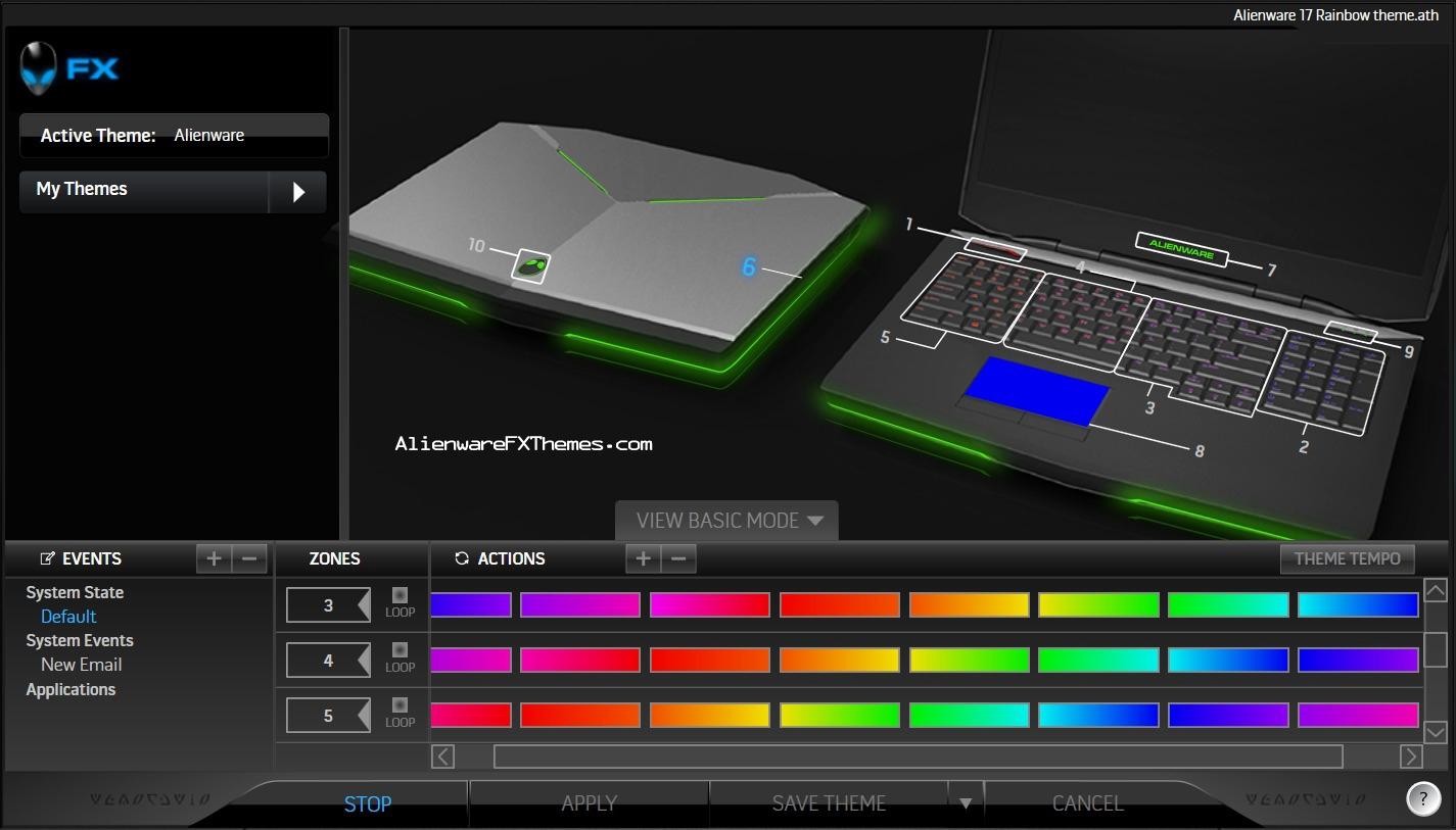 Alienware 17 Colors Rainbow by Alex Alienware 17