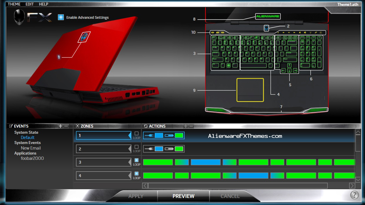 how to change the color of your alienware keyboard