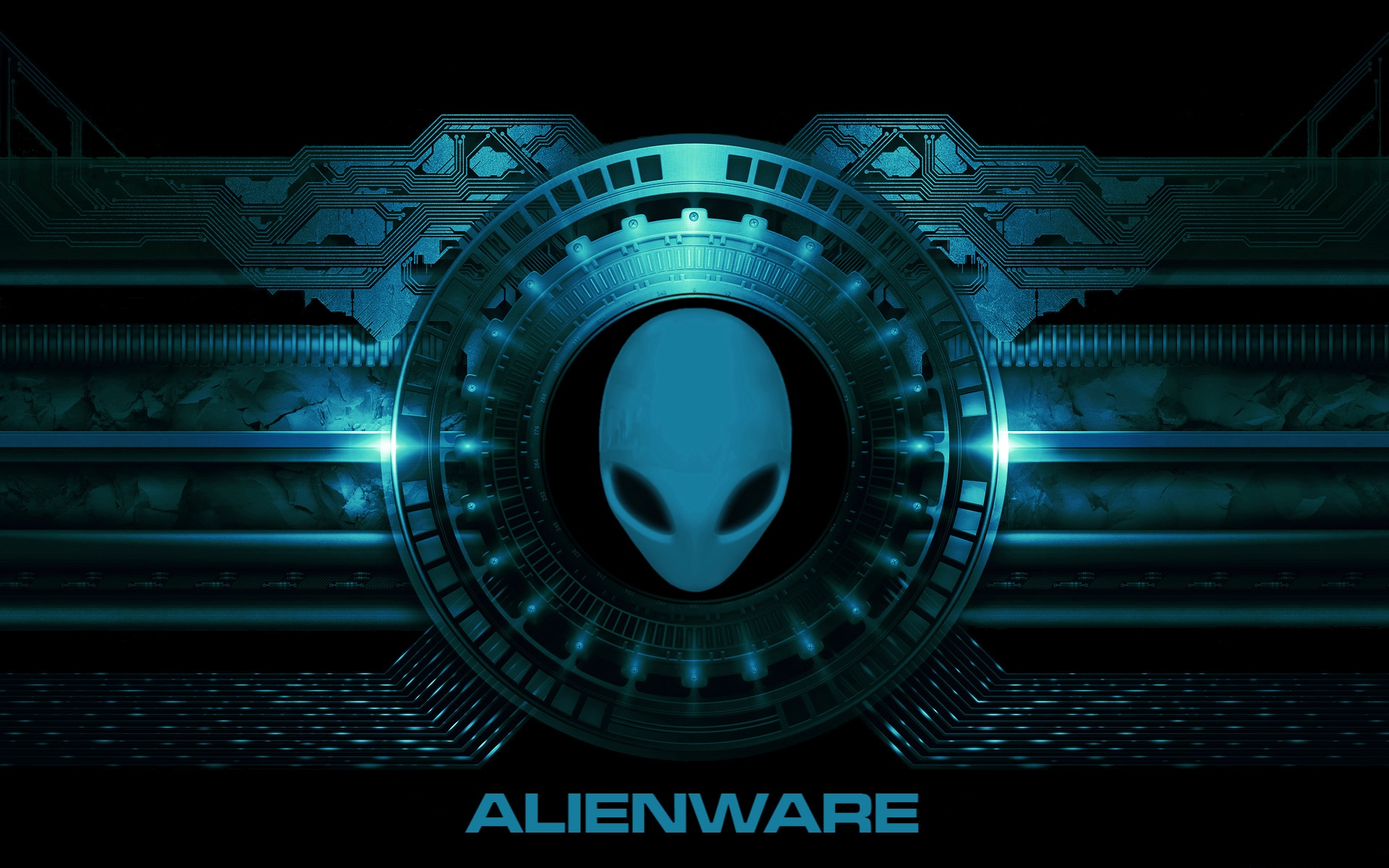 alienware desktop background blue mechanical circuit 1920x1200