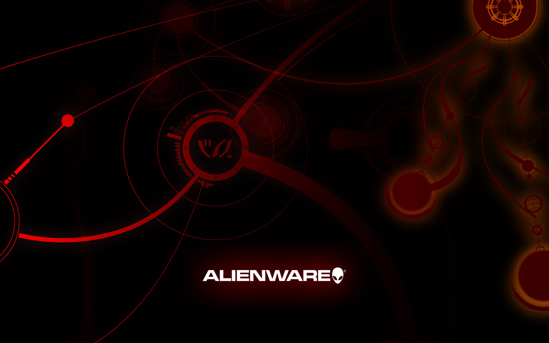 alienware desktop background red basic design 1920x1200