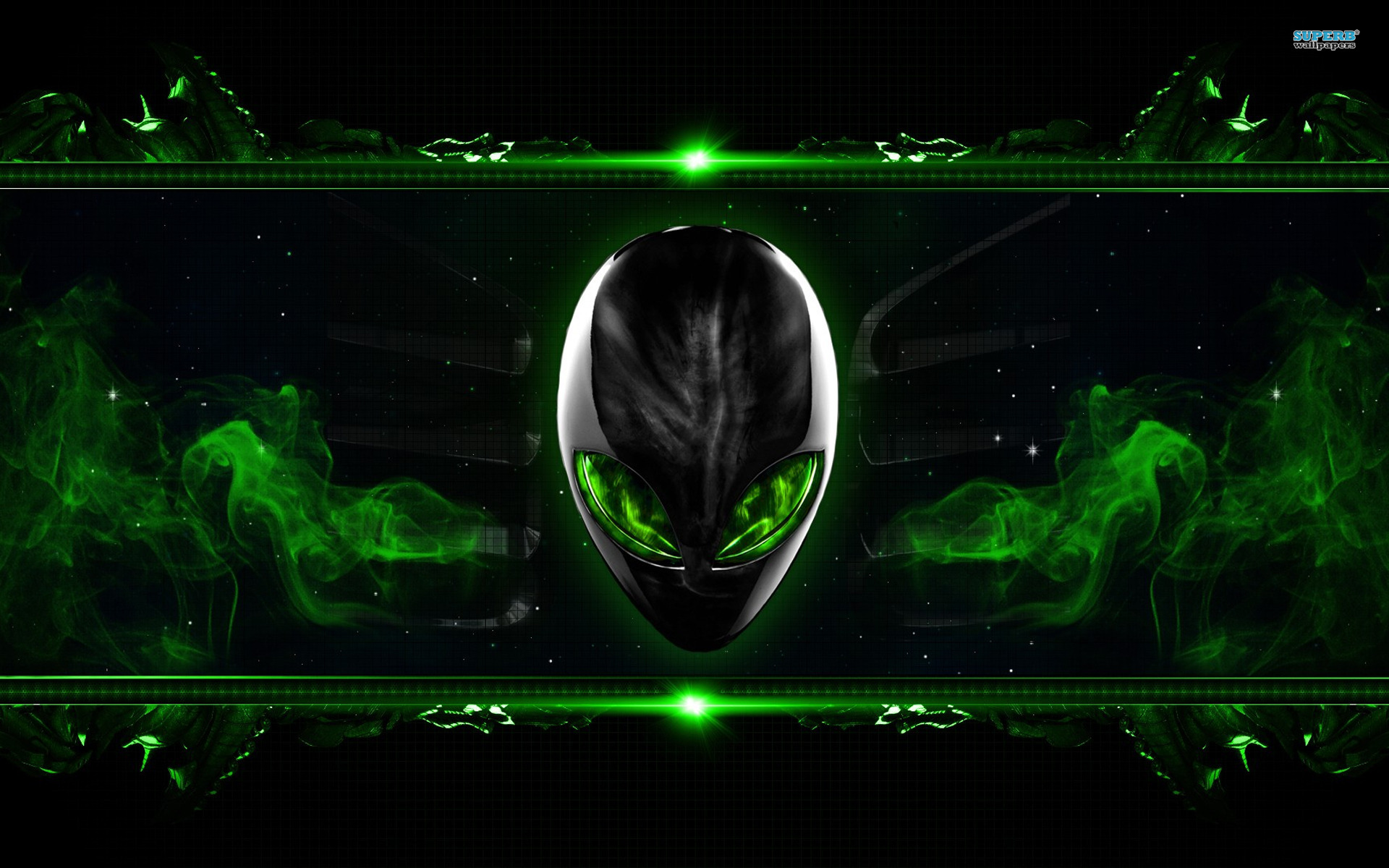 alienware desktop background smokey green 1920x1200