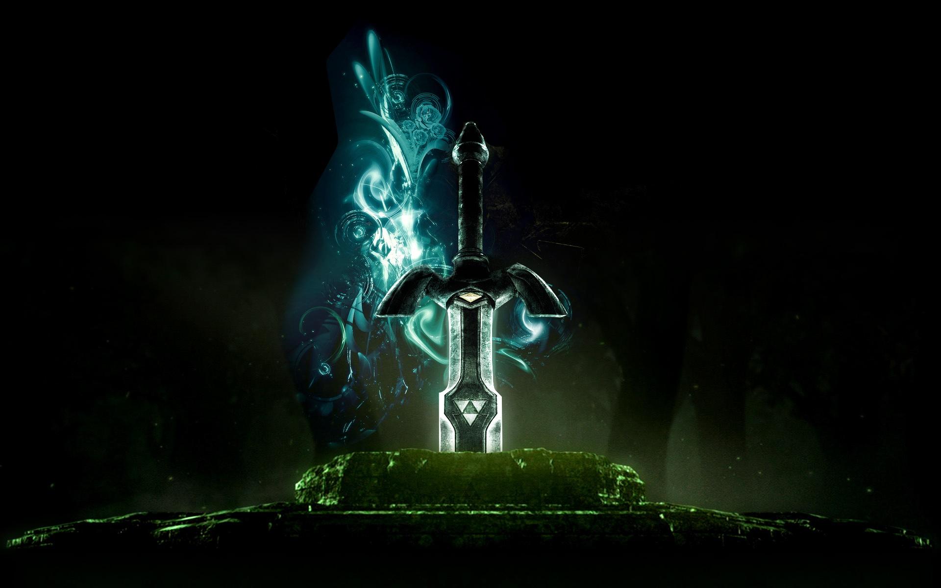 Alienware Desktop Background The Legend Of Zelda Ocarina Of Time The Master Sword 1920x1200