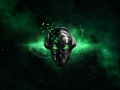 Alienware Desktop Background Alien Head Green Destruction Destroyed 1920x1200