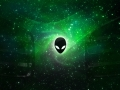 Alienware Desktop Background Alien Head Green Space 2560x1600