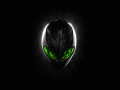 Alienware Desktop Background Alien Head Grey With Green Eyes 3360x2100