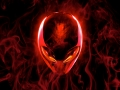Alienware Desktop Background Red Alien Head Flames 1920x1200