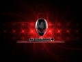 Alienware Desktop Background Red Alien Head Light Flares 1258x754