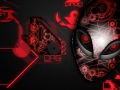 Alienware Desktop Background Red Organic Design 1920x1200