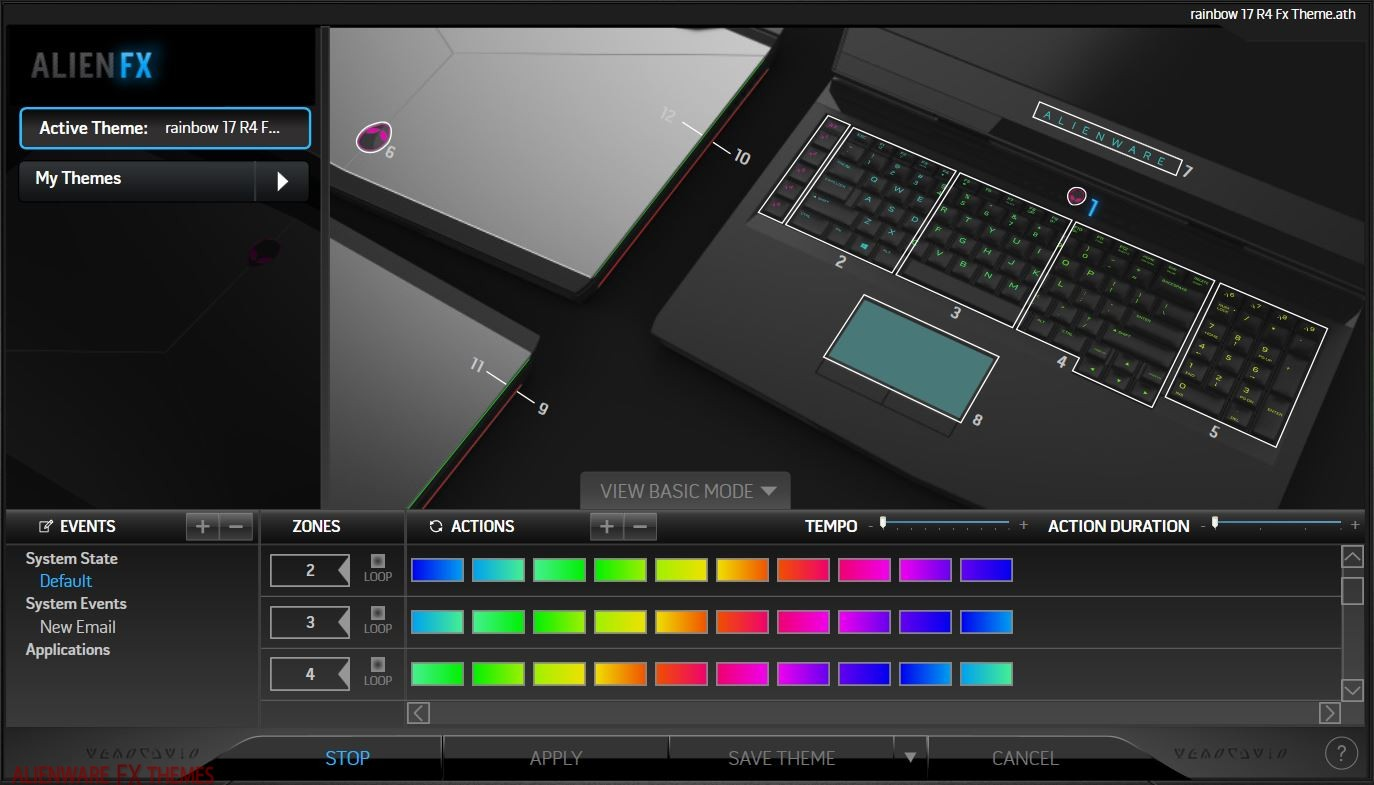 Rainbow Theme by Hunter Alienware 17 R4 Theme